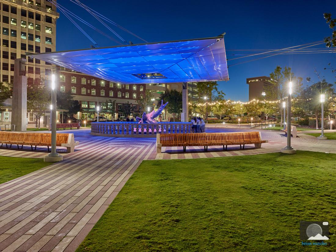 San Jacinto Plaza at Night