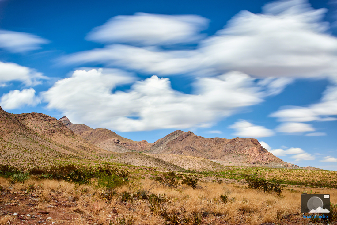 Castner Range Under a Partly Cloudy Sky