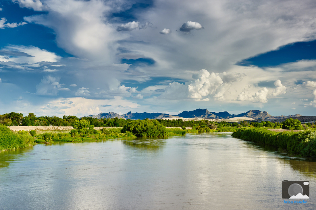 The Rio Grande in El Paso, Texas