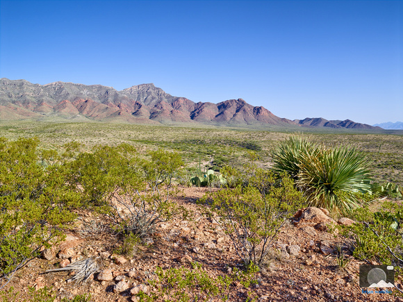 View of Franklin Mountains in El Paso, Texas