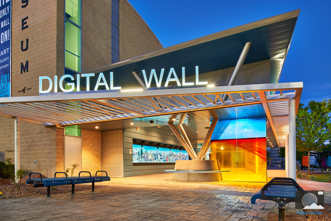 Digital wall in downtown El Paso Texas.