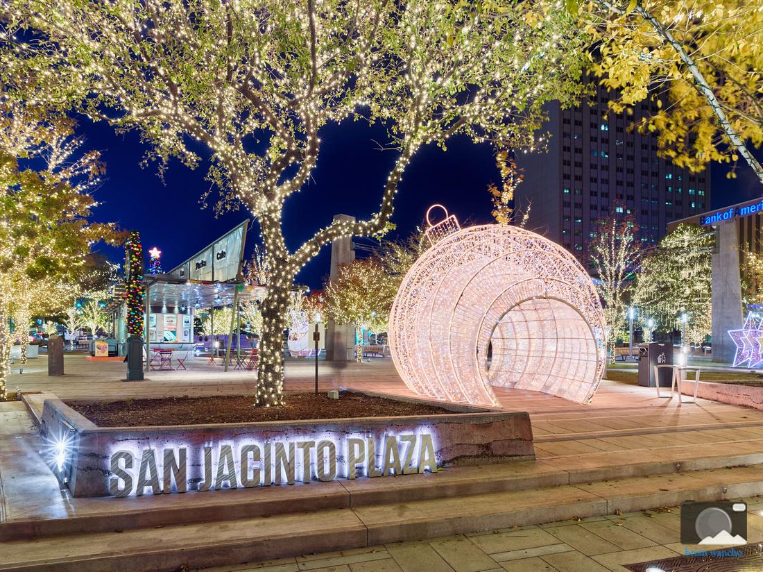 Christmas Lights at San Jacinto Plaza